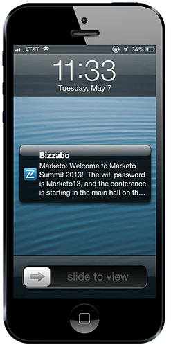 Bizzabo Real-Time Announcements - Event Management Software Features
