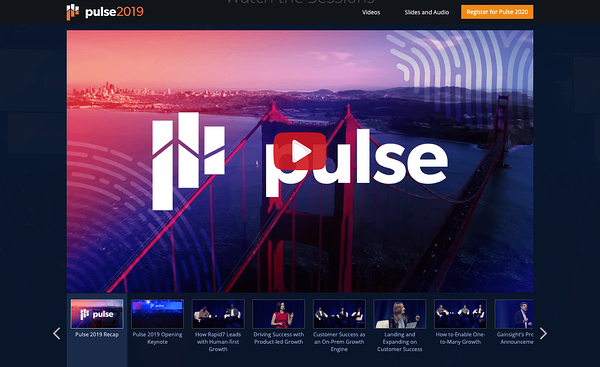Gainsight Pulse - Event Marketing Guide 2020