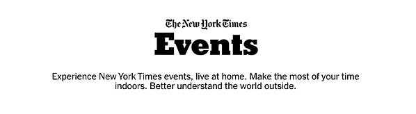 New York Times Events - Virtual Event Examples