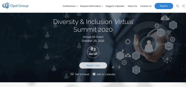 Diversity and Inclusion Virtual Conferences - Diversity and Inclusion Virtual Summit
