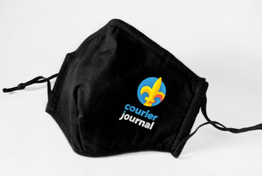 returning to inperson events safely-branded mask