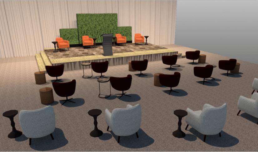 returning to inperson events safely-cort seating set social distance