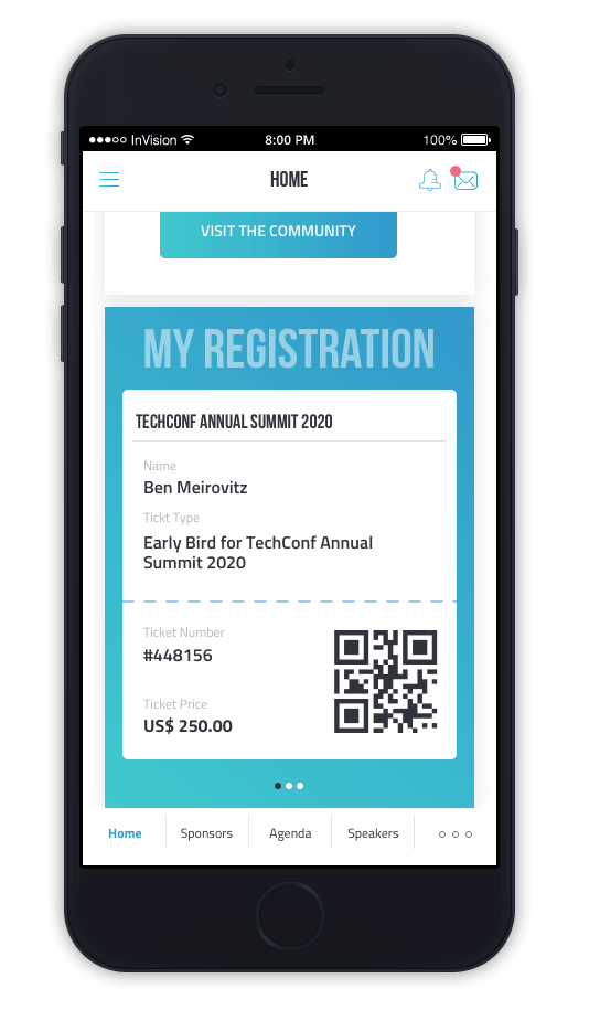 returning to inperson events safely-phone check in